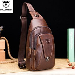 $enCountryForm.capitalKeyWord Australia - BULLCAPTAIN 2019 New Men Genuine Leather Crossbody Bags Cowhide Casual Riding Sling Shoulder Messenger Bag Chest Day Back Pack