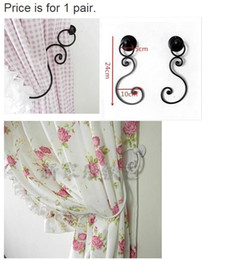 $enCountryForm.capitalKeyWord UK - New Hot Free Shipping European Style Curtain Wall Hook Curtain Valance Mosquito Net Accessories Wrought Iron Y19062803