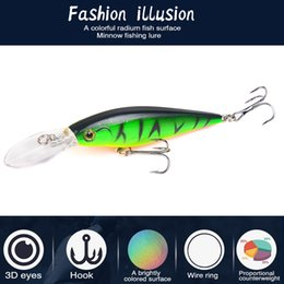 trolling spinners lures 2019 - 10 Colors Long Lip Minnow Fishing Lure 110mm 10g Aritificial Wobblers Crankbait Hard Bait Plastic Baits Pesca Isca Ya73