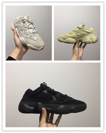 $enCountryForm.capitalKeyWord Australia - Hot 2019 Kanye West 500 Desert Rat Moon Yellow Running Shoes Cow Leather Mens Running Shoes Sneakers Sport Casual Shoe