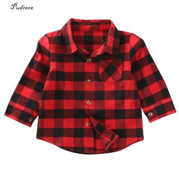 New kids wear online shopping - New Style in Autumn Cute Baby Kids Boys Girls Long Sleeve Shirt Plaids Checks Tops Blouse Out Wear Jackets Clothes