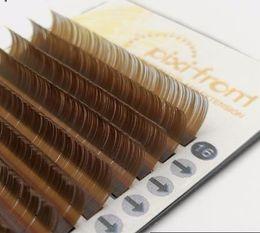 Natural Brown False Eyelashes Australia - Lashes 16rows Eyelashes fashion Fake False Eyelashes Individual Eye Lash Extensions Brown