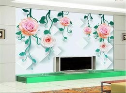 black wall art vines UK - 3d wallpaper custom photo mural Flower vine 3D fashion TV background wall Mural on the wall home decor wall art pictures