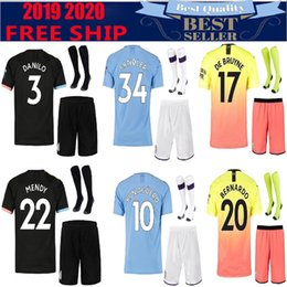 Wholesale New STERLING MAHREZ JESUS DE BRUYNE KUN AGUERO soccer jerseys SANE football Top city shirt adult uniform