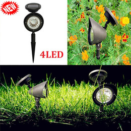 small downlight Australia - Solar Pathway Lights with Spike 4LED Walkway Spotlight Small Uplight Downlight Solar Powered LED Garden Lights for Lawn Patio Yard