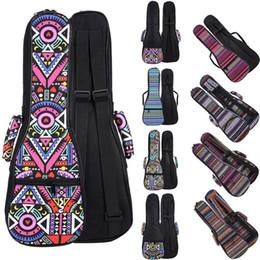 26 inches ukulele online shopping - 21 Inch Double Strap Hand Folk Canvas Ukulele Carry Bag Cotton Padded Case For Ukulele Guitar Parts Accessories National