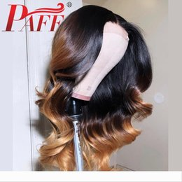 blonde body wave full lace UK - PAFF Ombre Blonde 1BT27 Color Wigs Glueless Full Lace Wigs Body Wave Malaysia Hair Full Lace Human Hair Wigs With Baby Hair