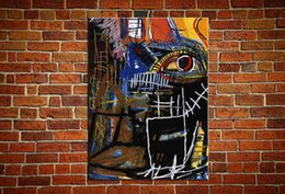"$enCountryForm.capitalKeyWord Australia - Jean Michel Basquiat ""HEAD"" Large Wall Picture Handmade Oil Painting On Canvas For Wall Decoration In Living Room"