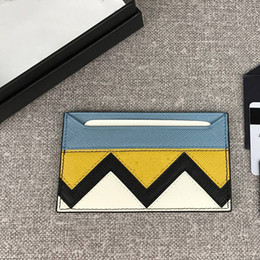 Metal Line Accessories Australia - Designer Bags Famous Brand Cross Grain Cowhide Texture Imported Thread Lining Imports Gold-plated Metal Hardware Accessories Card Pocket