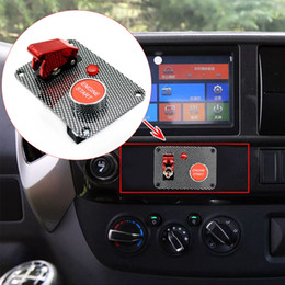 $enCountryForm.capitalKeyWord Australia - Universal Carbon Fiber Racing 12V Car Ignition Switch Panel Engine Start Push Button with LED DIY Car Modification Accessory