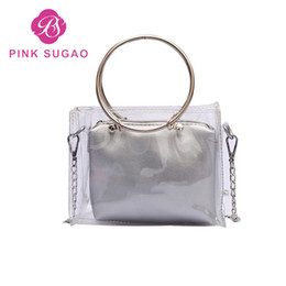 e5ae222737ee Pink Sugao Designer Wallet Women Crossbody Bag Clear Jelly Transparent PVC Handbags  Purses Female N041701