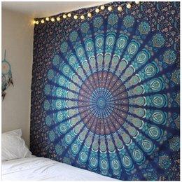 Ingrosso 150 * 210cm Mandala Beach Mat Poliestere Materiale sottile coperta da parete arazzo appeso a parete Yoga coperte scialle