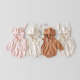 $enCountryForm.capitalKeyWord Australia - Newest Toddler Baby Girls Rabbit Bear Letters Rompers Long Sleeve Winter Fall Newborn Cotton Kids Boys Onesies Lovely Girl Jumpsuit