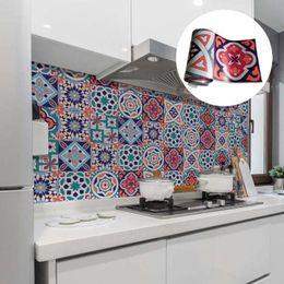 $enCountryForm.capitalKeyWord Australia - 20x500cm Art Color Pattern Self Adhesive Wallpaper Kitchen Bathroom Waterproof PVC Wall Sticker Tile Sticker Decals