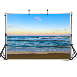 children beach paintings Australia - beach sea blue sky vinyl photography backgrounds portrait for photo shoot 7X5ft cloth for wedding lover baby children photo studio