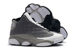 e3a966226b42 New Men Atmosphere Grey 13 Basketball Shoes Designer Trainers Cheap 13s  Grey White-University Red-Black Mens Athletic Sports Sneakers