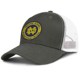 purchase cheap b2f2a ab514 Notre Dame Fighting Irish Round Logo CD men s trucker hat stylish adjustable  women fishing cap trendy snapback cap mesh summer hats