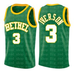 Green S Jersey Australia - high school Allen 3 Iverson Green Jersey Mens University Grey Cheap wholesale Basketball Jerseys Embroidery Logos S-XXL ghhghhghhg