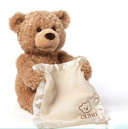 $enCountryForm.capitalKeyWord NZ - New Peek a Boo Teddy Bear Play Hide And Seek Lovely Cartoon Stuffed Teddy Bear Kids Birthday Gift Cute Music Bear Plush Toy