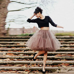 $enCountryForm.capitalKeyWord Australia - Classic Short Tutu Tulle Ball Gown Prom Party Dresses Skirt Layers Pleats Puffy Casual Dress Women Girls Skirts Cheap Custom Made Plus Size
