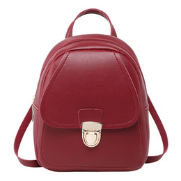 leather sling bag backpack UK - Girl Bag Headphone Hole Backpack Slung Student Shoulder Bags