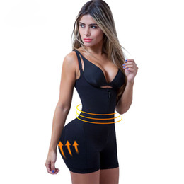 Wholesale Reductora Fajas Zipper and Clip Latex Waist Trainer Firm Control Body Shapewear Bodysuit Butt Lifter Shapers