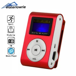 Mini Mps player online shopping - Waterlowrie FM MP3 Metal Mini Clip Music MP3 Player Support Micro TF SD Slot Portable LCD Screen Player Sport mp