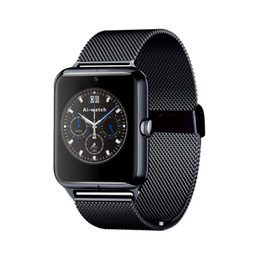 $enCountryForm.capitalKeyWord Australia - Bluetooth Smart Watch Phone Z60 Stainless Steel Support SIM TF Card Anti-Lost Fitness Tracker Smart watch for Android IOS