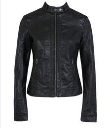 $enCountryForm.capitalKeyWord Australia - Women Leather Jacket Single Pimkie Washed PU Leather Motorcycle Jacket PIMKIE Slim Female Soft Large Size XS-XXXL