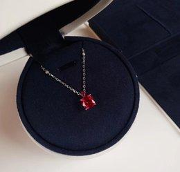 $enCountryForm.capitalKeyWord Australia - European and American fashion 925 pure silver pillow cut pigeon blood ruby necklace pendant