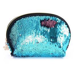 $enCountryForm.capitalKeyWord NZ - Women's Fashion Bling Sequins Cosmetic Bag Zipper Small Shell Makeup Bag Cases