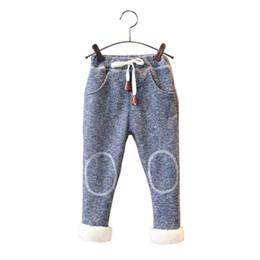 4736e1e61d1e4 Bibicola winter boys girl pants casual elastic solid pants kids sport  clothing bebe thick leggings baby warm christmas pants