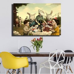 16x24 Painting Australia - Rosie's Tea Party Mark Ryden Canvas Painting Wall Picture Poster And Print Decorative Home Decor