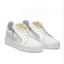 39bb4967c9 2019 HOT Itália Luxo Sapatos Casuais Zanotti Zíper Homens e Mulheres Low Top  Sapatos Baixos Sapatos Dos Homens de Couro Genuíno Sapatilhas De Grife ...