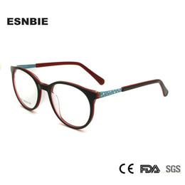 f1ebe2cf11e5 ESNBIE Round Kids Glasses Frame Optical Acetate Myopia Prescription Glasses  Girl Boy Children Eyeglasses Vintage Eyewear Oculos