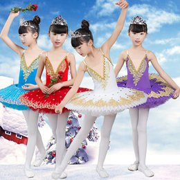 Red White Blue Tutus Australia - New Adult Professional Ballet Tutu Child Swan Lake Costume White Red Blue Ballet Clothes For Kids Pancake Tutu Girls Dancewear