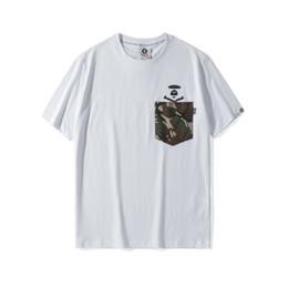 Chinese  Aape Mens T Shirt Ape Head Printing Short Sleeve 19ss Summer Brand New Couple Cotton T Shirt Men Women Designer Fashion Short Sleeve Tee manufacturers