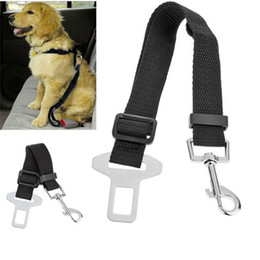 lead collars for dogs Australia - Adjustable Pet Cat Dog Car Safety Belt Collars Pet Restraint Lead Leash Travel Clip Car Safety Harness For Most Vehicle