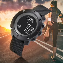 counter watches 2019 - Relogio Masculino KAK Men's Digital Watch Men Step Counter Wrist Watches 30M Waterproof Geneva Sports Running Watch