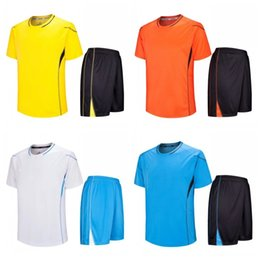Clothing for sChool online shopping - Spring Adult School Practicing Uniform Light Plate Group Buying Soccer Clothes Sports Suit Size Mix For Men Popular ssH1