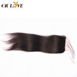 "$enCountryForm.capitalKeyWord UK - Natural Color 4*4 Lace Closure Brazilian Human Hair Closure Straight Body Wave Loose Wave Deep Wave 8-22"" Free Part Closure With Baby Hair"