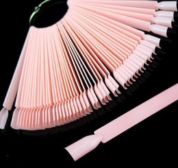 $enCountryForm.capitalKeyWord Australia - False Tips Color Card Manicure Nail Art Practice Slice Board Pink Clear White Buckle Ring Diy Display Tools 2019