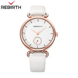 $enCountryForm.capitalKeyWord Australia - REBIRTH Dual Dial Women's Watches Casual Leather Bracelet Watch Lady Dress Wristwatch Montres Femme Gifts For Girls With Box