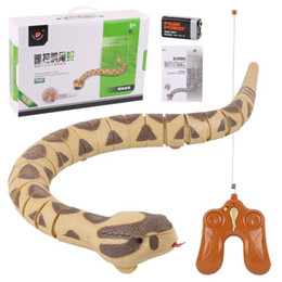 Funny horror prank toys online shopping - Electric RC Snake Infrared Control Remote Rattlesnake Kids Toy Prank Toys Halloween Horror Funny Gadgets Yellow