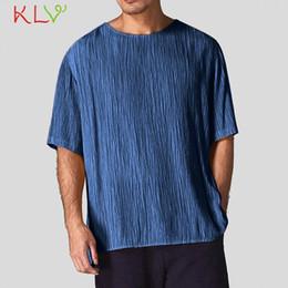 $enCountryForm.capitalKeyWord Australia - T Shirt Men Summer Linen Short Sleeve Solid Casual Loose Slim Fit Top Harajuku Tshirt Male Modis Tees Homme Jogging Clothes 19My