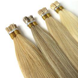 Virgen rusa Remy doble extracción de cabello humano 0.5 g 200 líneas / lote Itailan Keratina Pre bond I Tip Stick Tip Extensiones de cabello