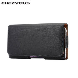 $enCountryForm.capitalKeyWord UK - CHEZVOUS Universal 5.2 inch Belt Clip Holster Leather Mobile Phone Cases Pouch For Samsung Galaxy S6 edge S7 S6 S5