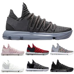 1dc00af07918 Zoom KD 10 Multi-Color Oreo Numbers BHM Men Kids Basketball Shoes 10s X  Elite Mid Kevin Durant Sneakers Trainers Zapatos Chaussures