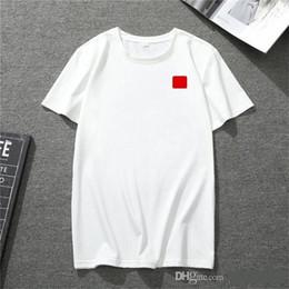 Wholesale red sleeve shirt women for sale – custom 2020 new mens t shirt European American popular small red heart printing T shirt men women couples t shirt