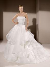 $enCountryForm.capitalKeyWord NZ - A-Line Wedding DressesHot Selling Ivory Lotus Leaf Edge Peng Skirt Put on the Breast and Tail Wedding Garment Back Zipper Customized Package